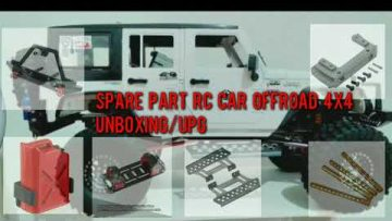 Unboxing/Upgrade Spare Parts Clone SCX10 Merakit Rc Car Offroad 4X4