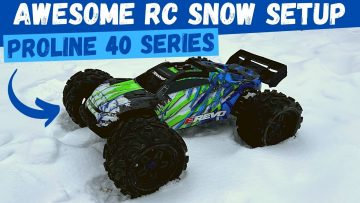 Driving RC Cars in the Snow FAIL | Awesome Proline RC Snow Tire | Traxxas RC