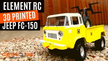 Element RC Enduro Kit with a INSANE Jeep FC150 tow car 3D printed body