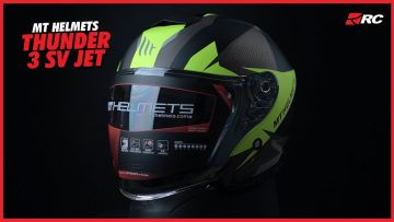 MT HELMETS THUNDER 3 SV JET Full Review Indonesia, Helm Half Face Premium Spanyol! – RC Review –
