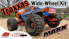 Traxxas Maxx RC Monster Truck with Wide Wheel Kit & Upgrades