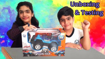 Remote Control Jeep Car Unboxing and Testing | Toys Unboxing | Radio Controlled Car | Kids Explorer