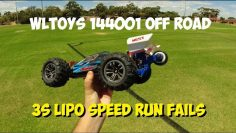 WLtoys WLtoys 144001 Off Road 3S-poging mislukt!