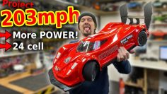 WORLDS fastest RC Car 1st run – MORE POWER!