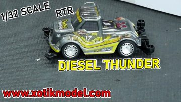 Xotik Model 1/32 DIESEL THUNDER RTR: Unbox, Run, and Review
