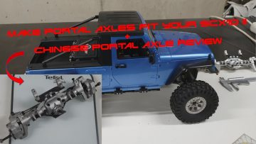 Fitting Portal axles to your crawler   Tips and review of chinese axle for SCX10 II