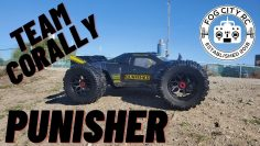 Team Corally Punisher XP 6S 1/8 Monstertruck.  Unboxing , Oversigt, og kør video.