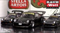 Two scales of RWB Stella Artois Porsche 930 | Unboxing & Reviews | Roues chaudes & Tarmac Works