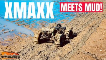 Xmaxx RC Driving On Water & Mud Bogging
