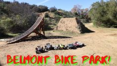 Bay Area RC Car Basher Team Test the Belmont Bike Park & RC Track 151! *Mega Ramp*