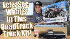 Caminhão RC para terreno gnarly! – Tamiya Landfreeder Quadtrack TT-02FT Kit Unboxing | RC Driver