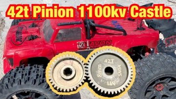 Outcast 8s 1100kv 42t pinion!