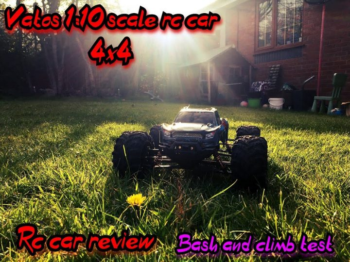 Vatos 1:10 scale RC car 4×4  Pregled.  (Unboxing, climb, grip test and durability)