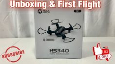 Holy Stone HS340 Mini Drone Unboxing & First Flight