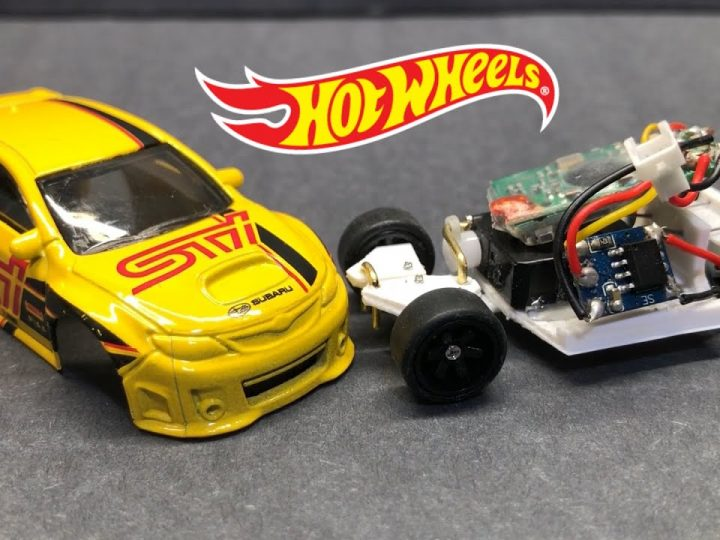 Hot Wheels RC car using a Subaru WRX STI Hatchback