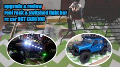 Upgrade dan review roof rack & switched light bar RC car RGT EX 86100 1/10 M.b.