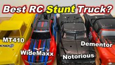 Best RC Stunt Truck? (Текно MT410, Traxxas WideMaxx, Arrma Notorious V5, Team Corally Dementor V2)