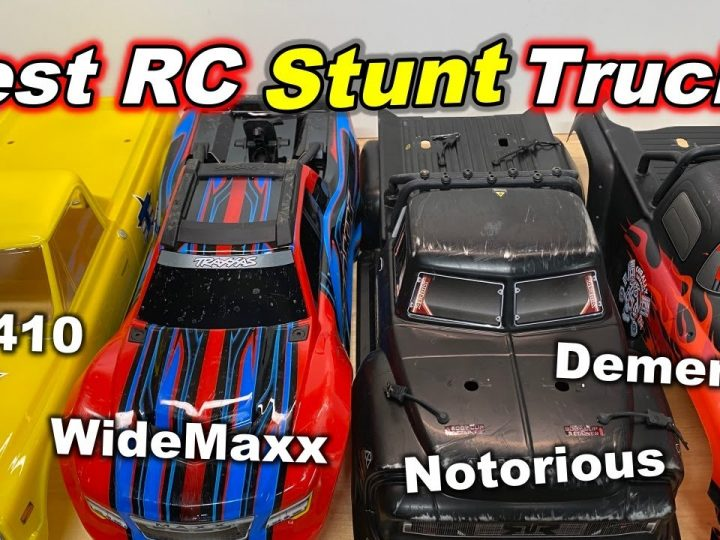 Best RC Stunt Truck? (Tekno MT410, Traxxas WideMaxx, Arrma Notorious V5, Team Corally Dementor V2)