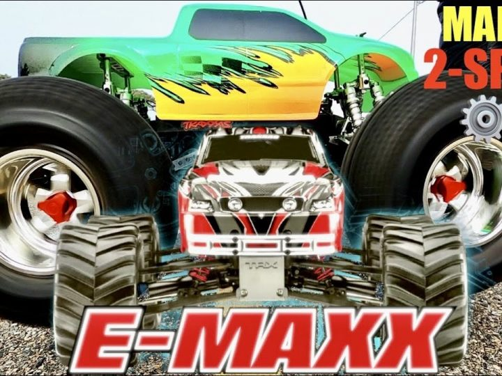 Traxxas E-MAXX Retro Review – Manual 2-SPEED ⚙️⚙️ Transmission – Twin Titan 550 Motors @ 16.8 Volts🔥