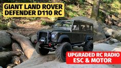 Monster 1/8 Land Rover Defender geüpgraded – Flysky radio, Hobbywing 1080 esc en Holmes motor