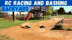 Epic Backyard RC Pista de coches | Traxxas Maxx y ERevo Racing y Bashing | WRB Racing