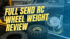 Full Send RC Axial SCX24 brass wheel weight review and running video