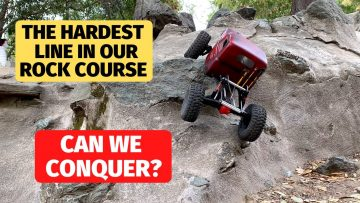 Hardest line in our rock crawl course – Can the Low CG G-speed crawler handle it?