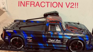 ARRMA INFRACTION V2 REVIEW AND BASHING