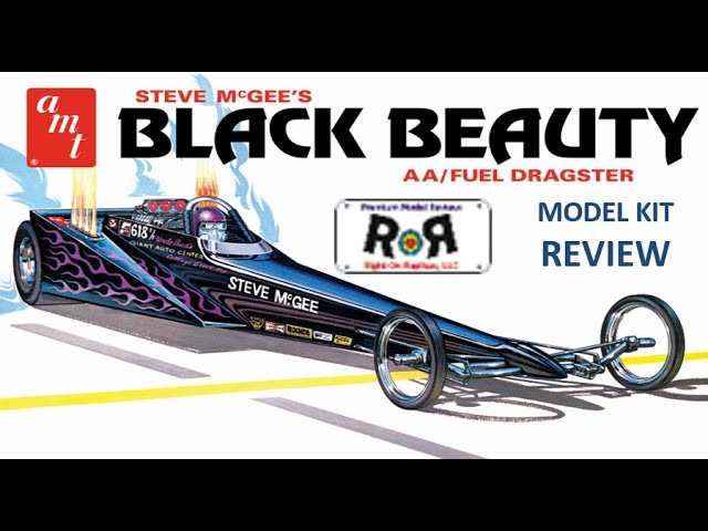 Black Beauty Dragster 1:25 Scale AMT 1214  -Model Kit Build & Examen