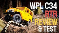 WPL C34 REVIEW AND TEST. 1/16 Toyota FJ Landcruiser. Awesome budget trail truck!