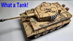 1/16th Trompetista RC Tiger 1 Unboxing de tanques