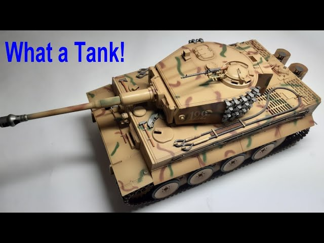 1/16th Trumpeter RC Tiger 1 Tank Unboxing