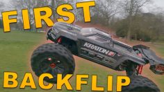 First backflip with a HUGE RC Car! ARRMA Kraton 8s EXB