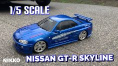 1/5th NISSAN GT-R SKYLINE, RC CAR #nikko #skyline #gtr #1/5. #1/5.