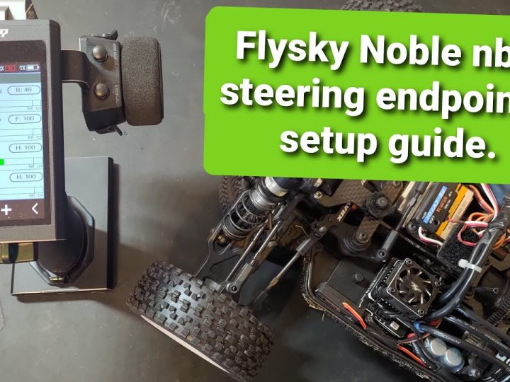 Flysky Noble nb4 steering endpoints setup guide.
