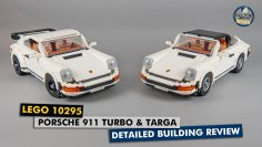 Lego 10295 Porsche 911 Turbo & Targa detailed building review