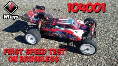 WLTOYS (en) 104001 Brushless – Premiers tests de course de vitesse!