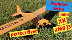 XK A160 j3 cub flight review mods mini RC plane with Gyro RTF
