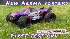 ARRMA VORTEKS 3S BLX RC CAR FIRST TEST RUN #arrma #horizonhobby