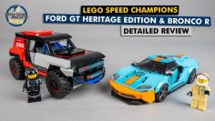 Champions de vitesse LEGO 76905 Ford GT Heritage Edition and Bronco R detailed building review