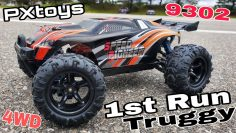 Eerste run – PXtoys 9302 RC Truggy (1/18 Schaal, 4Wd) Great Run!!