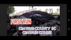Axial gladiator scx10.3 first run and review at crawler county backyard rc crawler course 😀