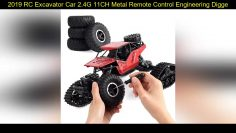 Специальные 2019 RC Excavator Car 2.4G 11CH Metal Remote Control Engineering Digger Truck Model Electro