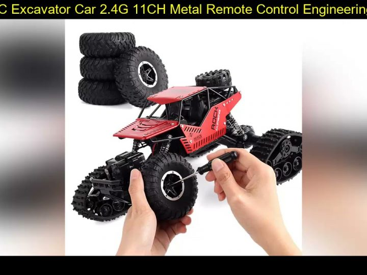 SPECIAL 2019 RC Excavator Car 2.4G 11CH Metal Remote Control Engineering Digger Truck Model Electro