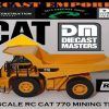 Diecast Masters RC Remote Control Cat 770 Mining Truck 1:35 Масштаб