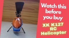 XK K127 6 asse Gyro Beginners Mini RC Helicopter Indoor Flight Review