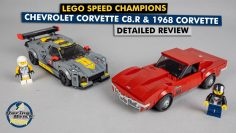 LEGO Speed Mestre 76903 Chevrolet Corvette C8.R & 1968 Corvette detailed building review