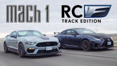 V8 RIVALI! 2021 Ford Mustang Mach 1 vs Lexus RCF Track Edition