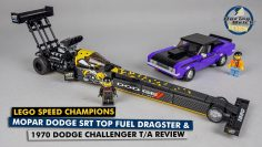 LEGO Speed Champions 76904 Mopar Esquivar SRT Top Dragster de combustible & 1970 Dodge Challenger T/A revisión