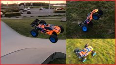 Epic Nitro RC Car Bash ends with RUNAWAY (Fast)